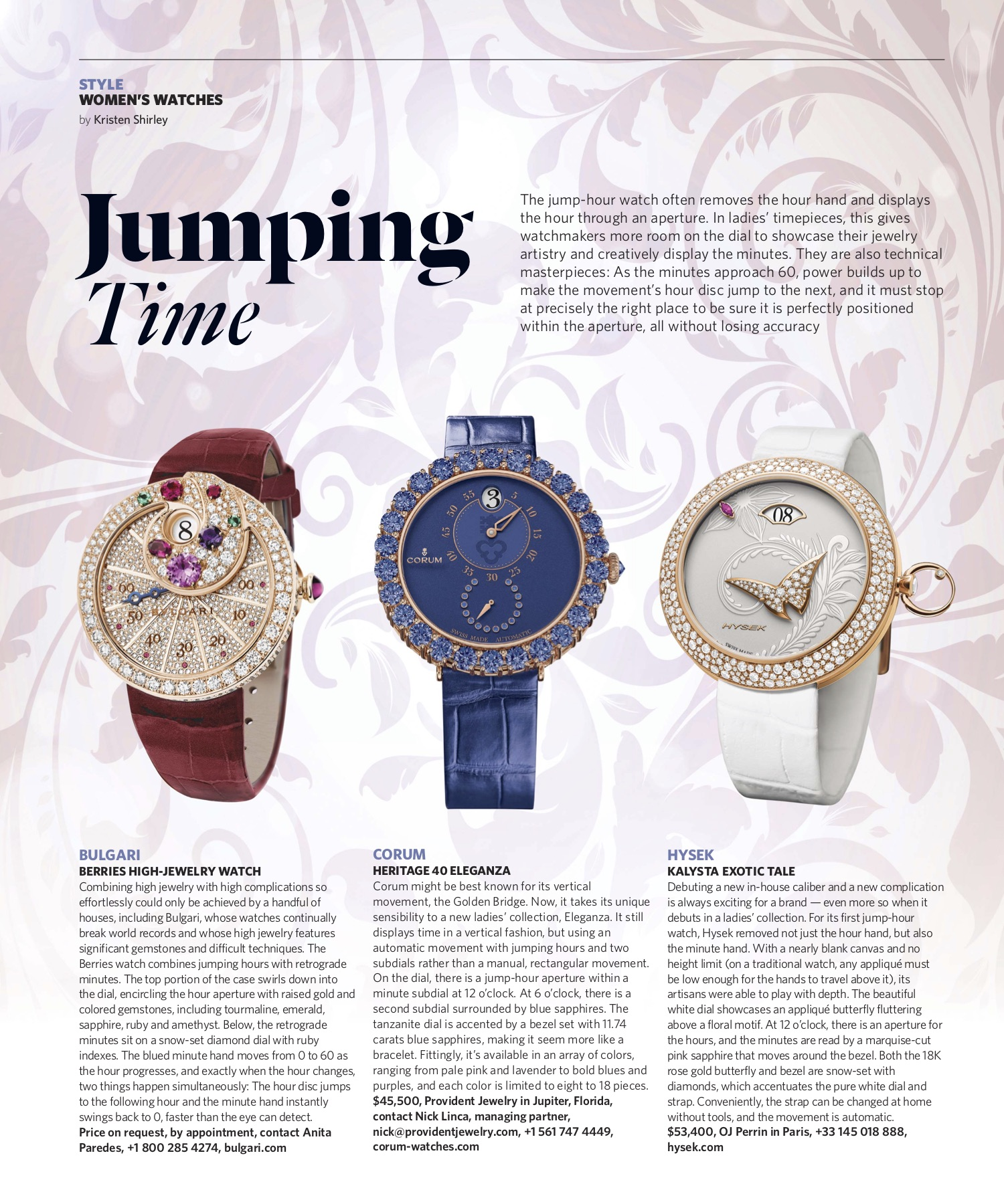 Spring 2019 | Jump-Hour Watches