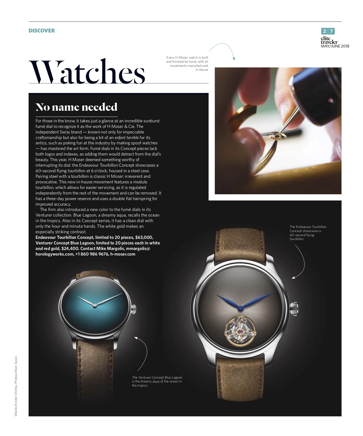 May/June 2018 | H Moser & Cie Concept Watches