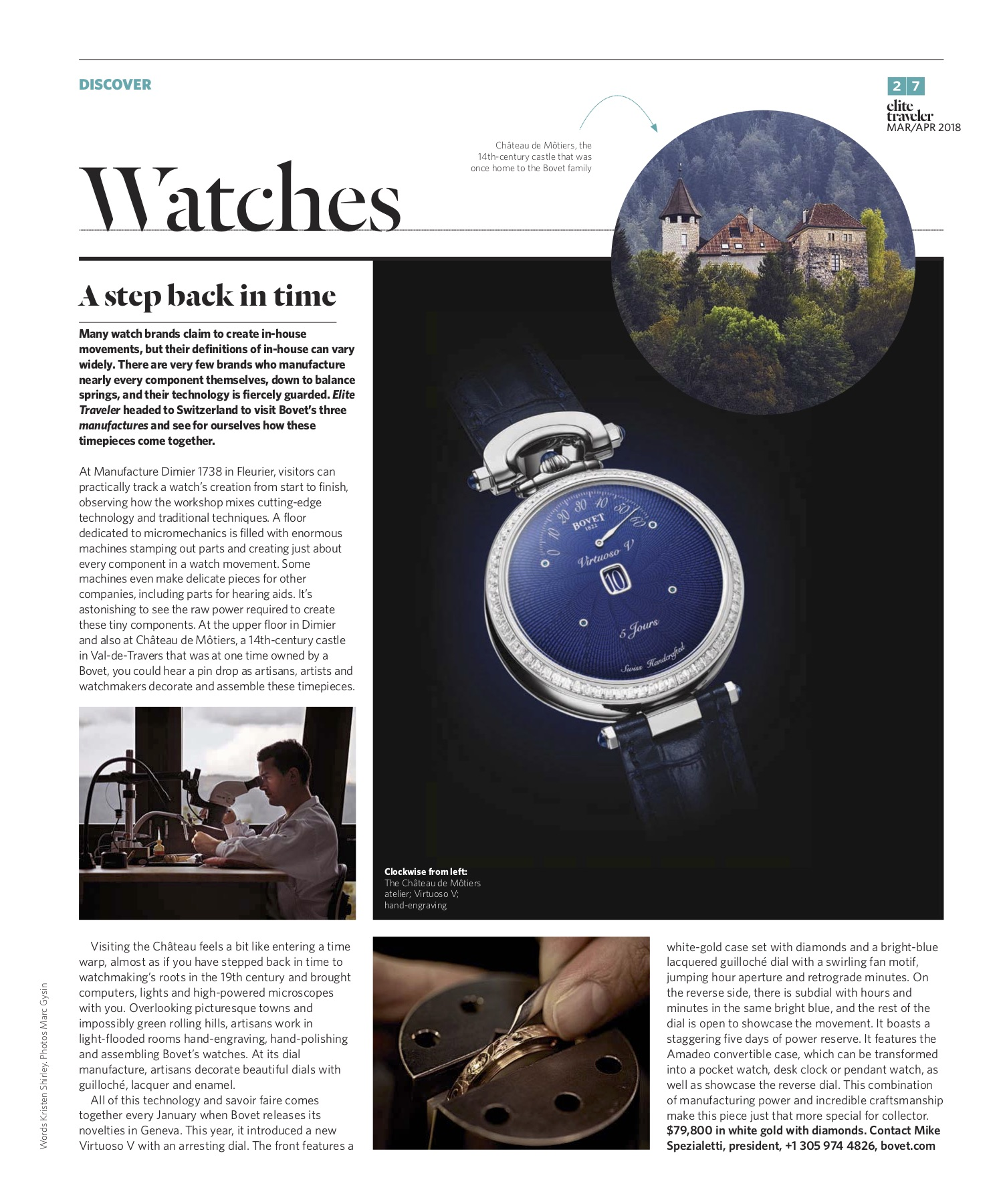 March/April 2018 | Bovet's Manufacture