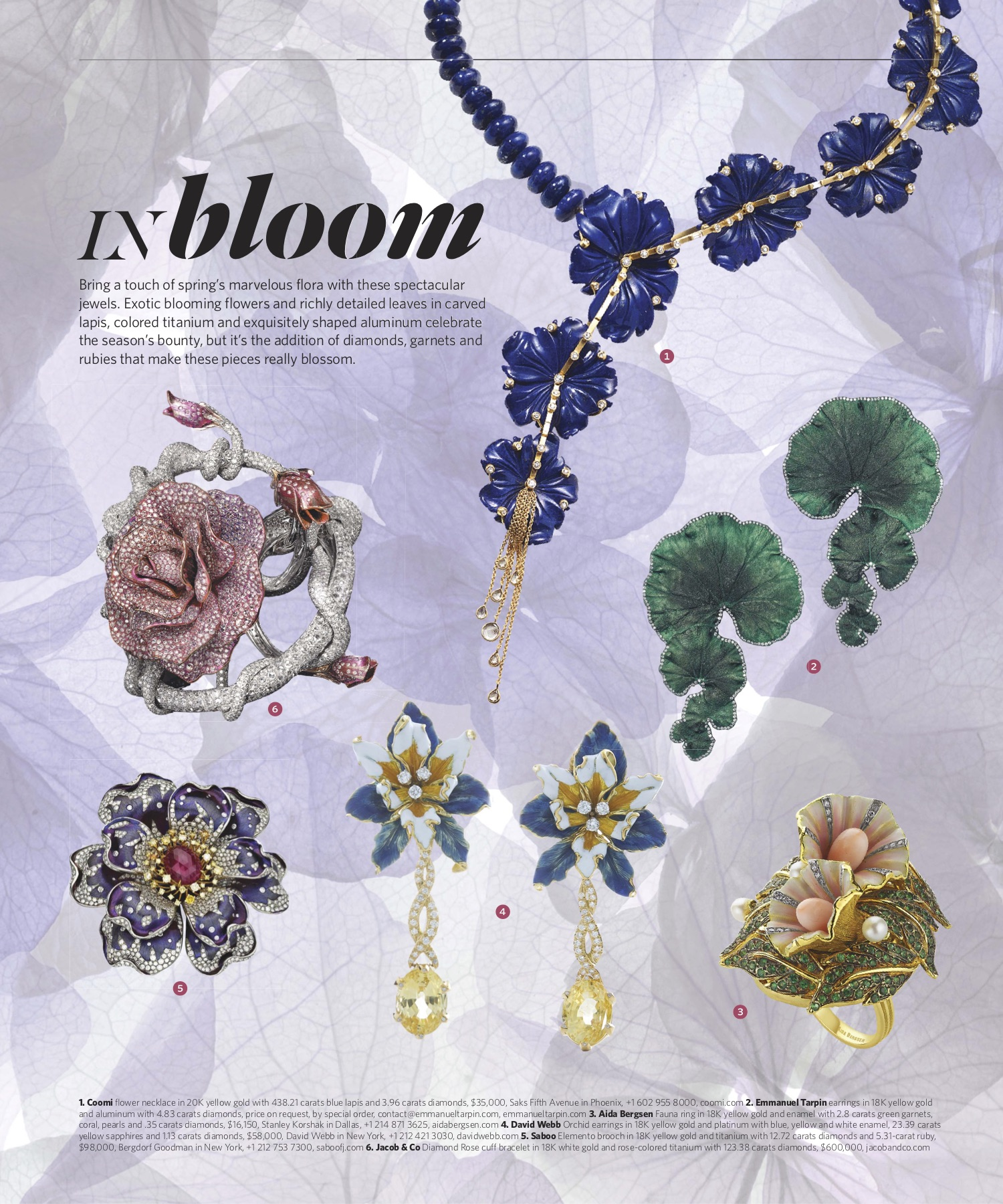 Summer 2019 | Floral Jewelry