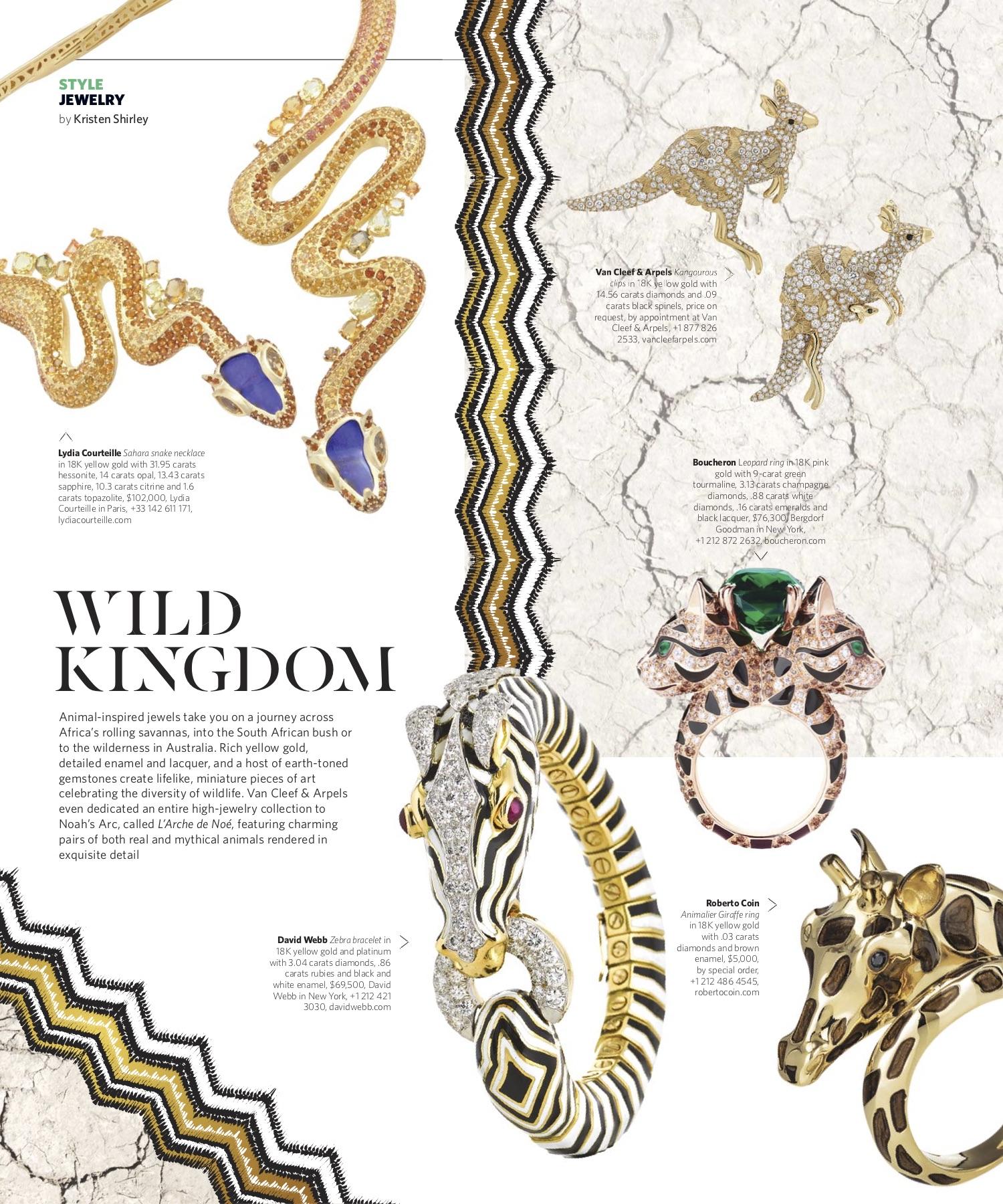 September/October 2018 | Animal Jewelry