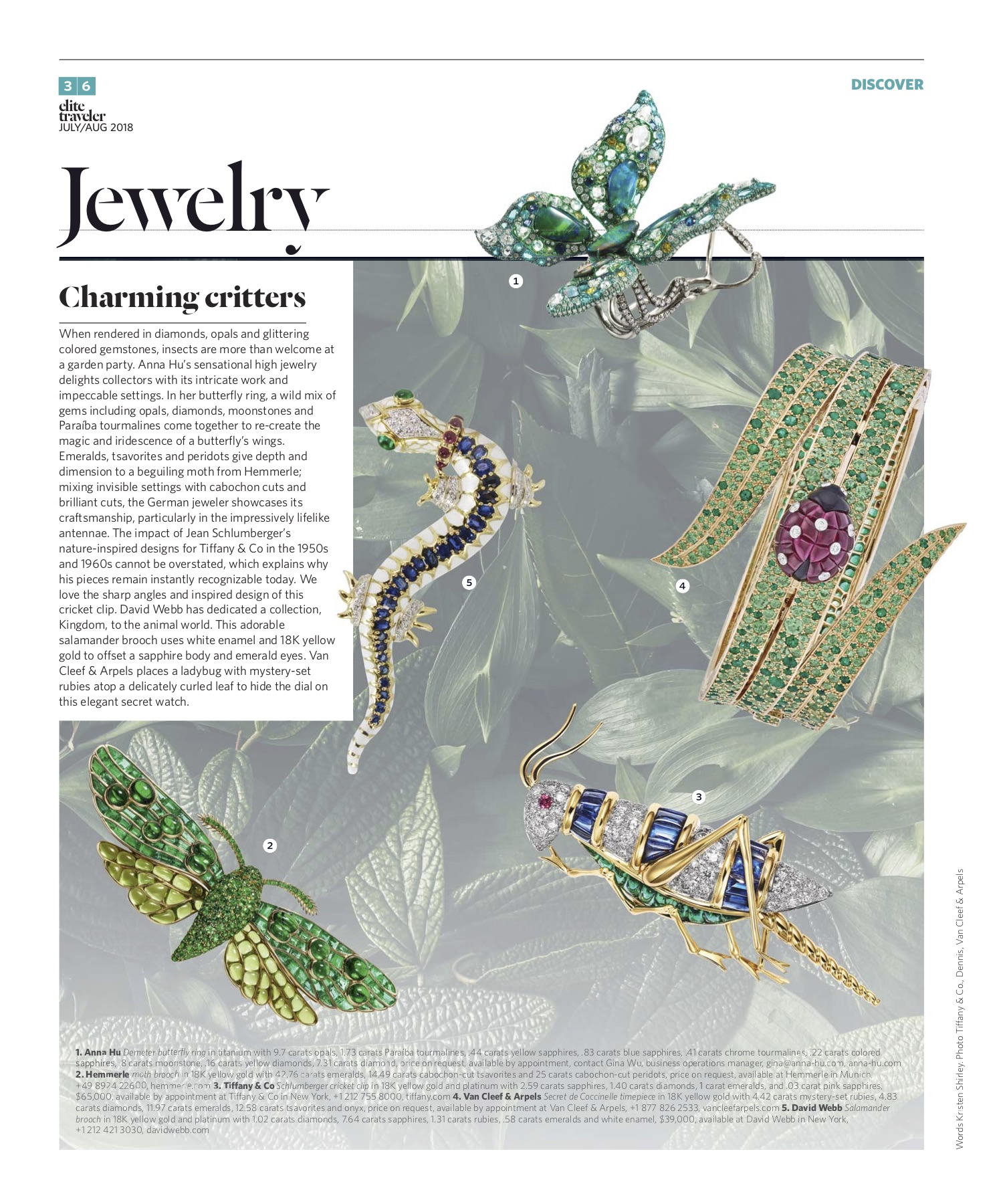 July/August 2018 | Insect Jewelry