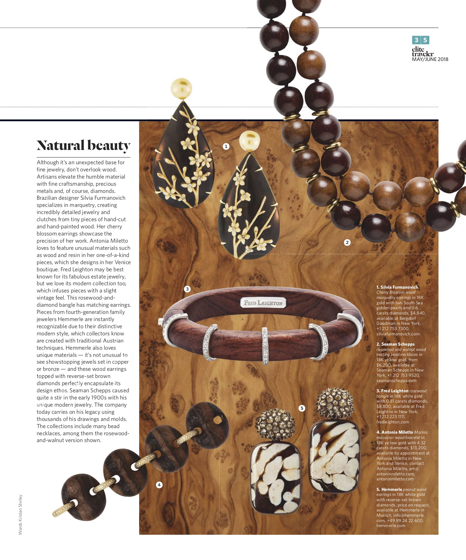 May/June 2018 | Wooden Jewelry