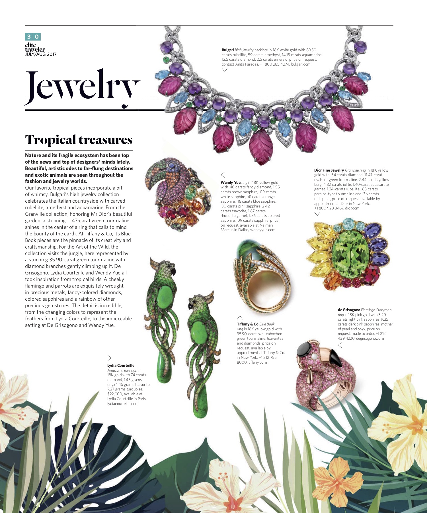 July/August 2017 | Tropical Jewelry