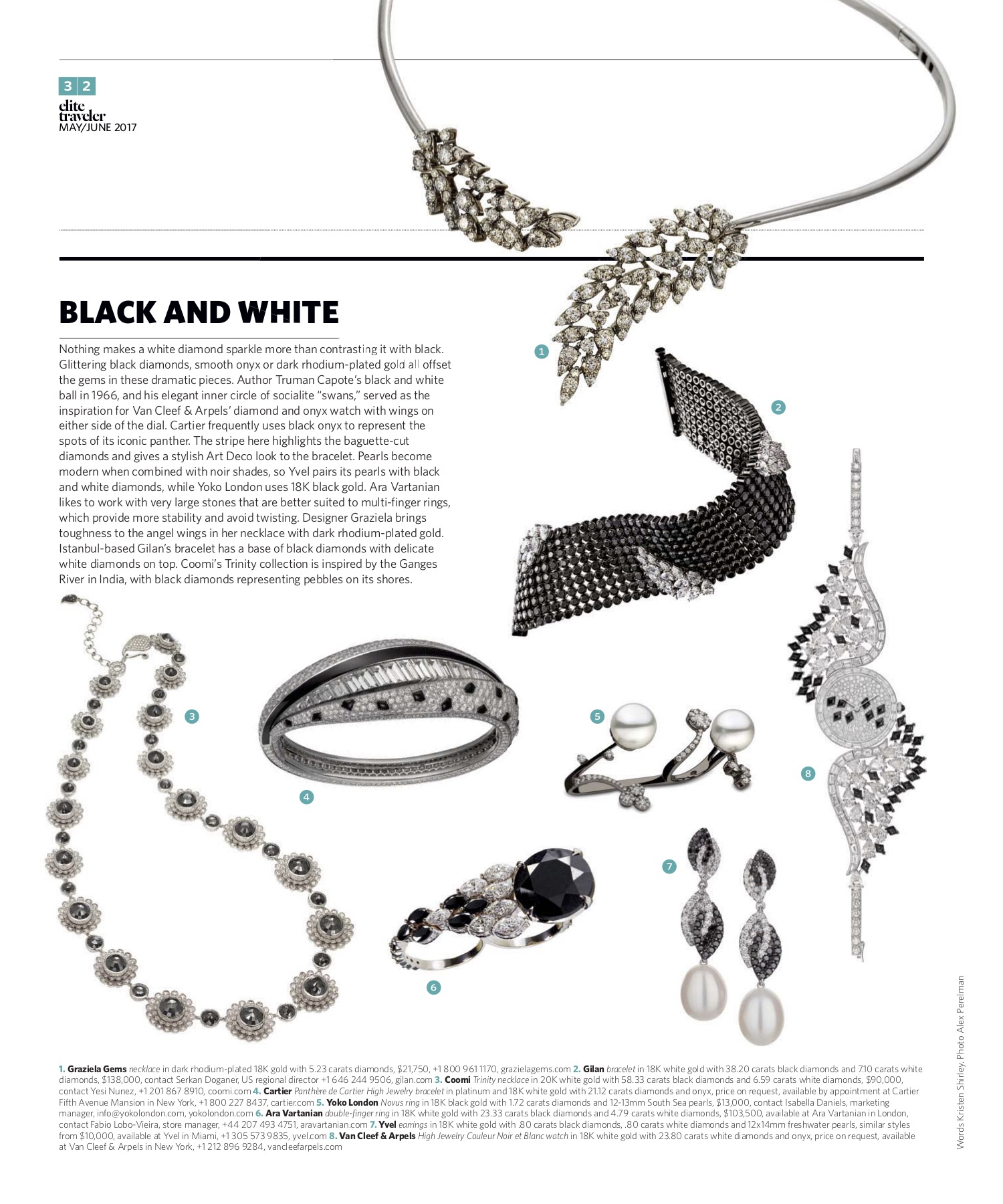 May/June 2017 | Black and White Jewelry