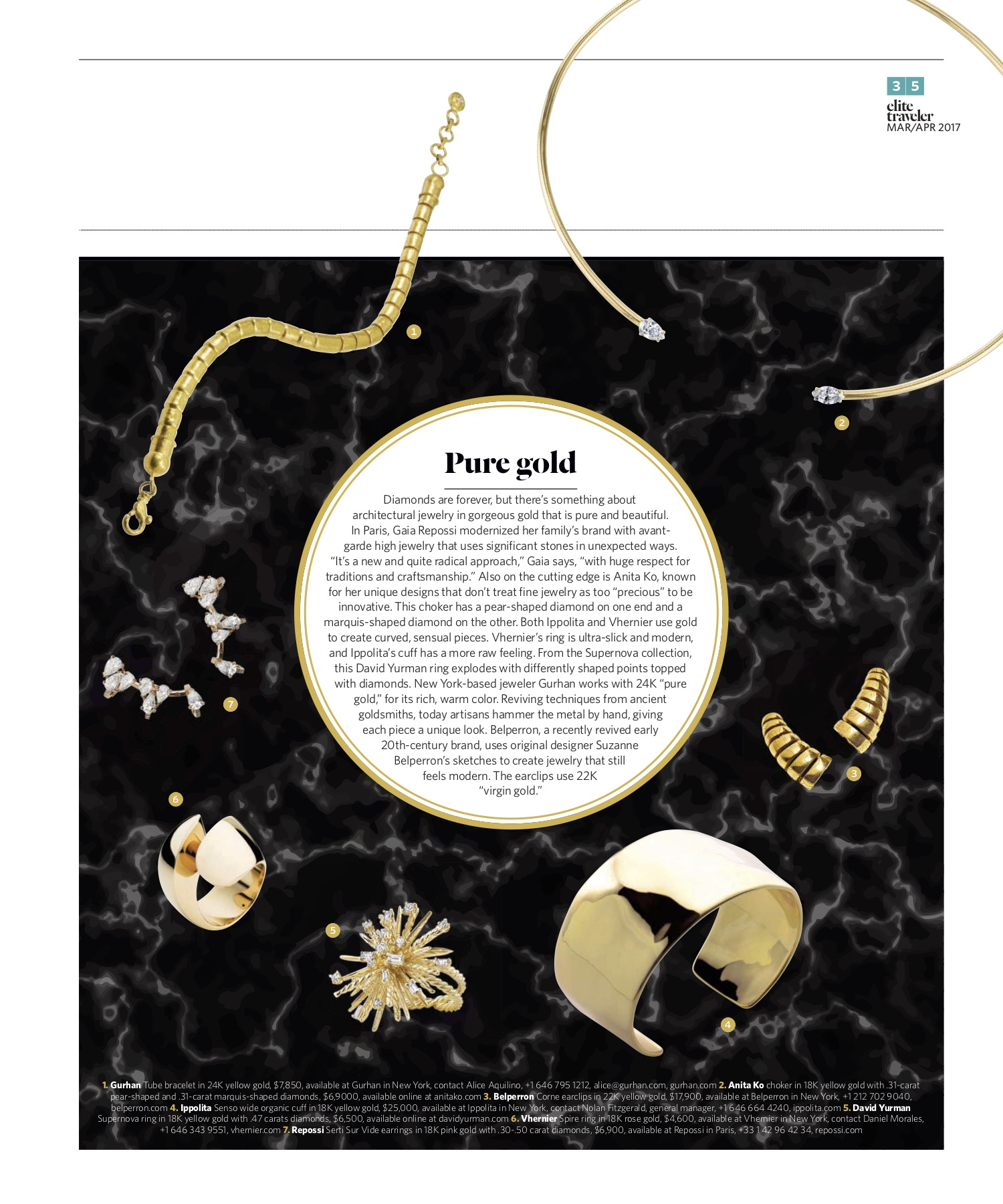 March/April 2018 | Gold Jewelry