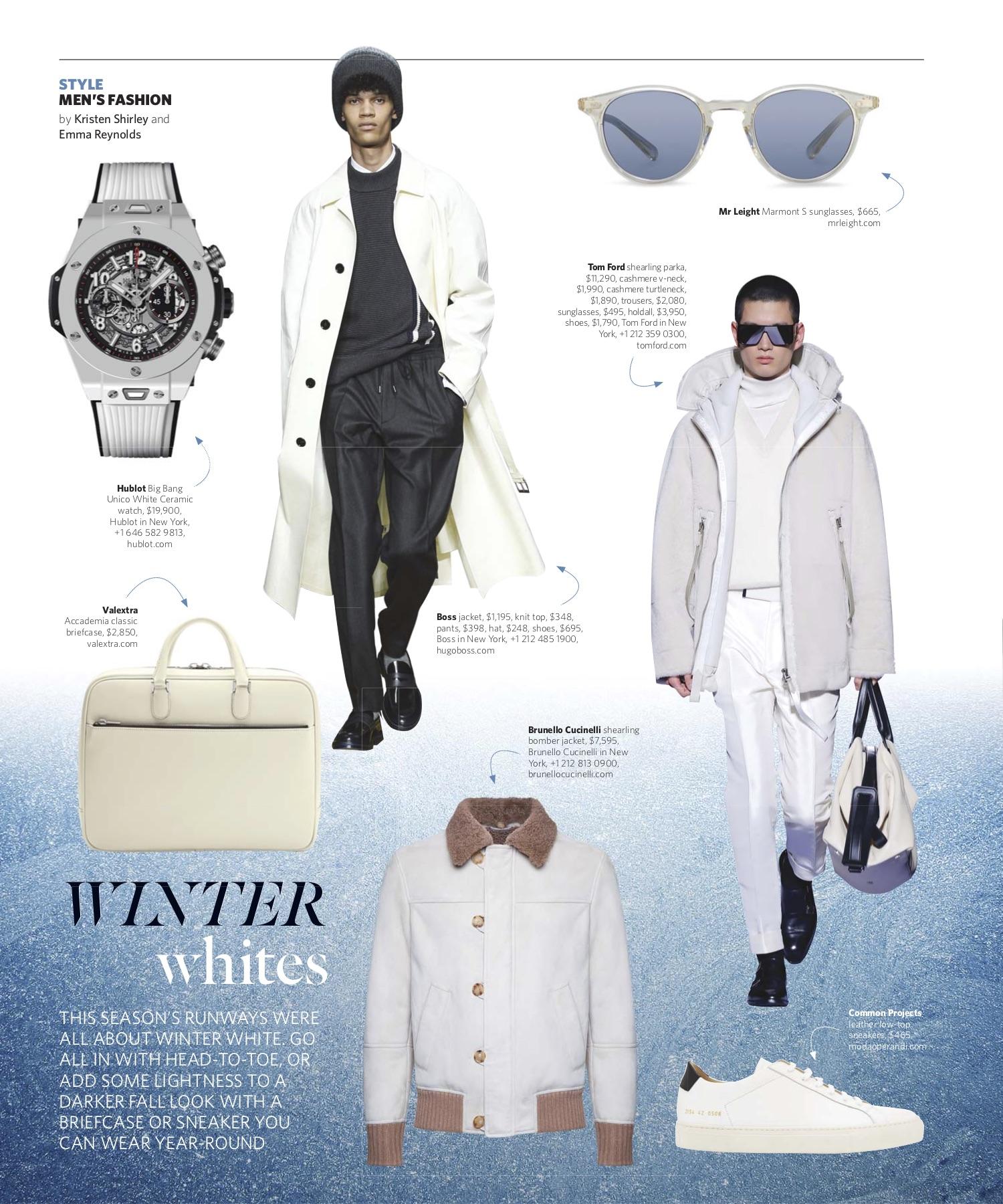 November/December 2018 | Winter Whites