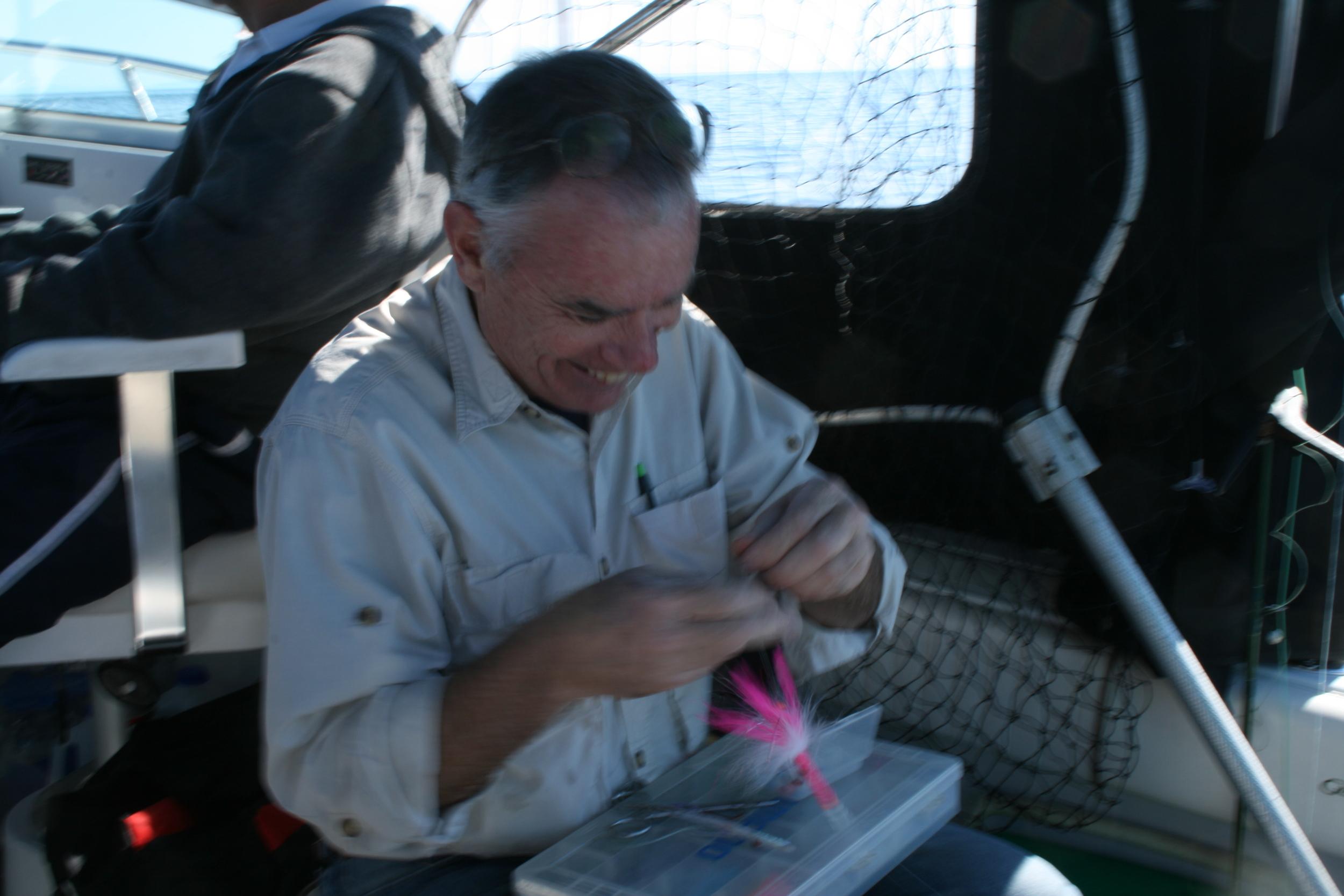On the Strait of Juan De Fuca, salmon trolling 2014
