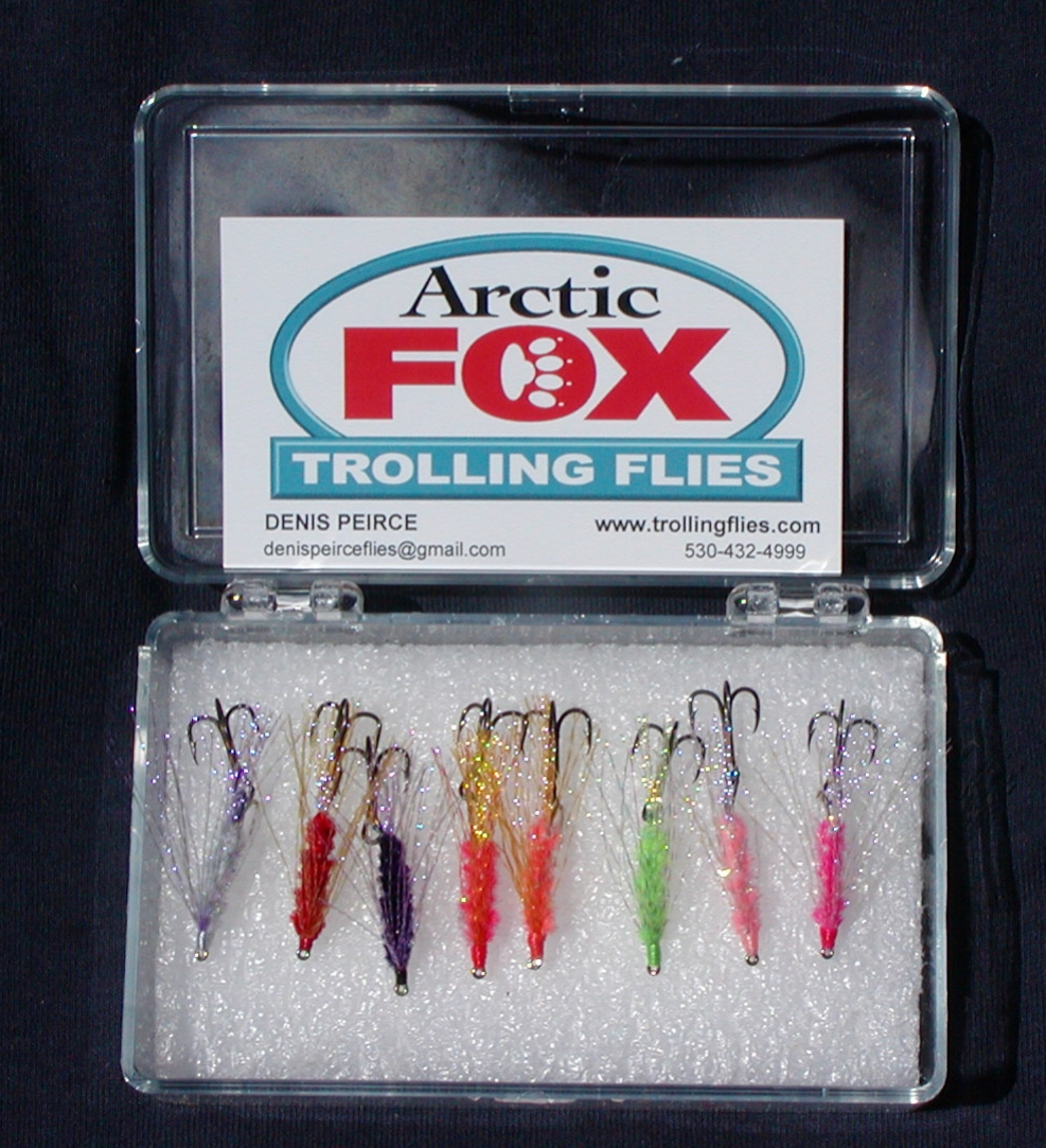 8 Fly Sampler.  One each of my eight different Kokanee Trolling Flies in a plastic tackle box