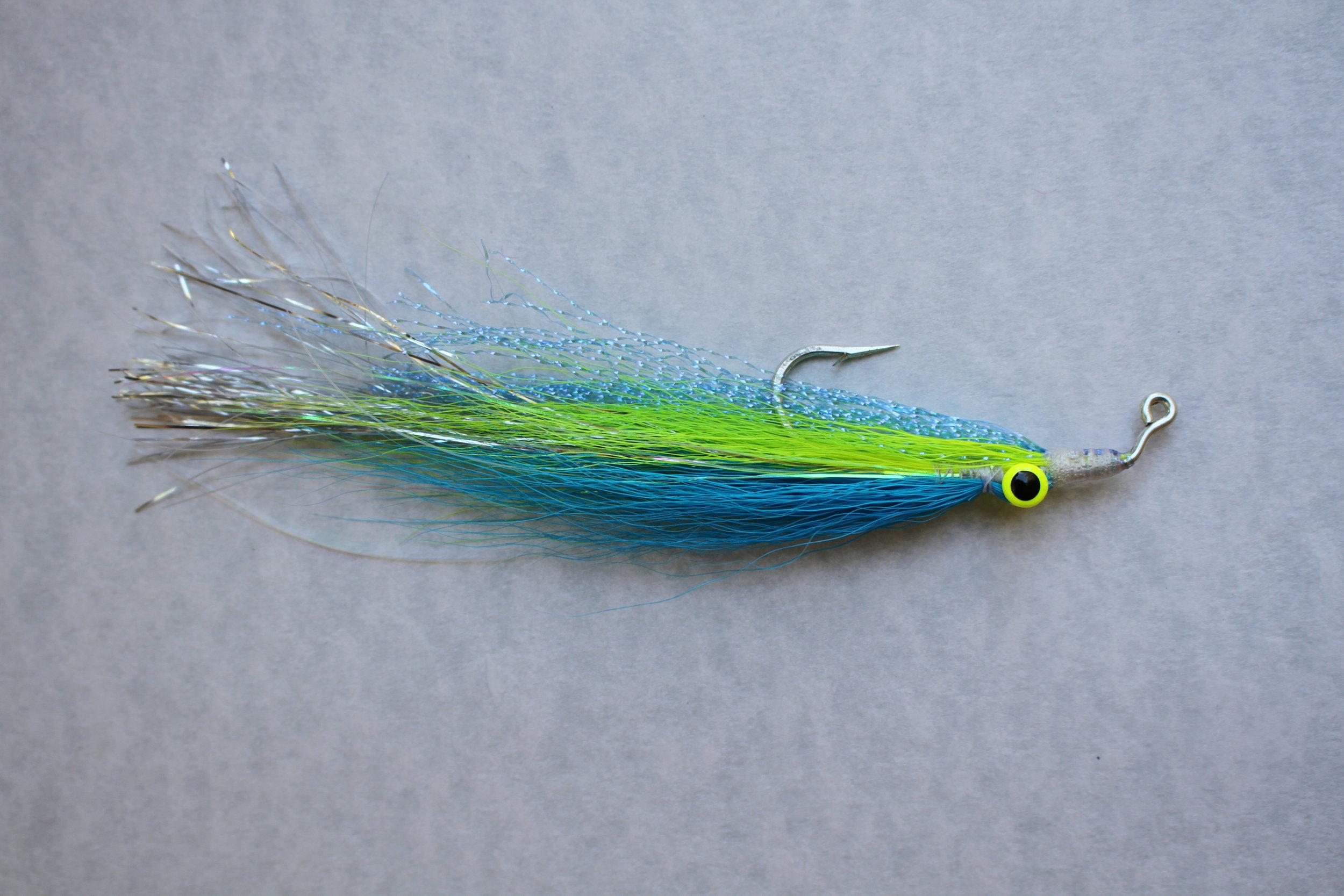 Blue Striper Fly, 4/0 Flashtail Clouser