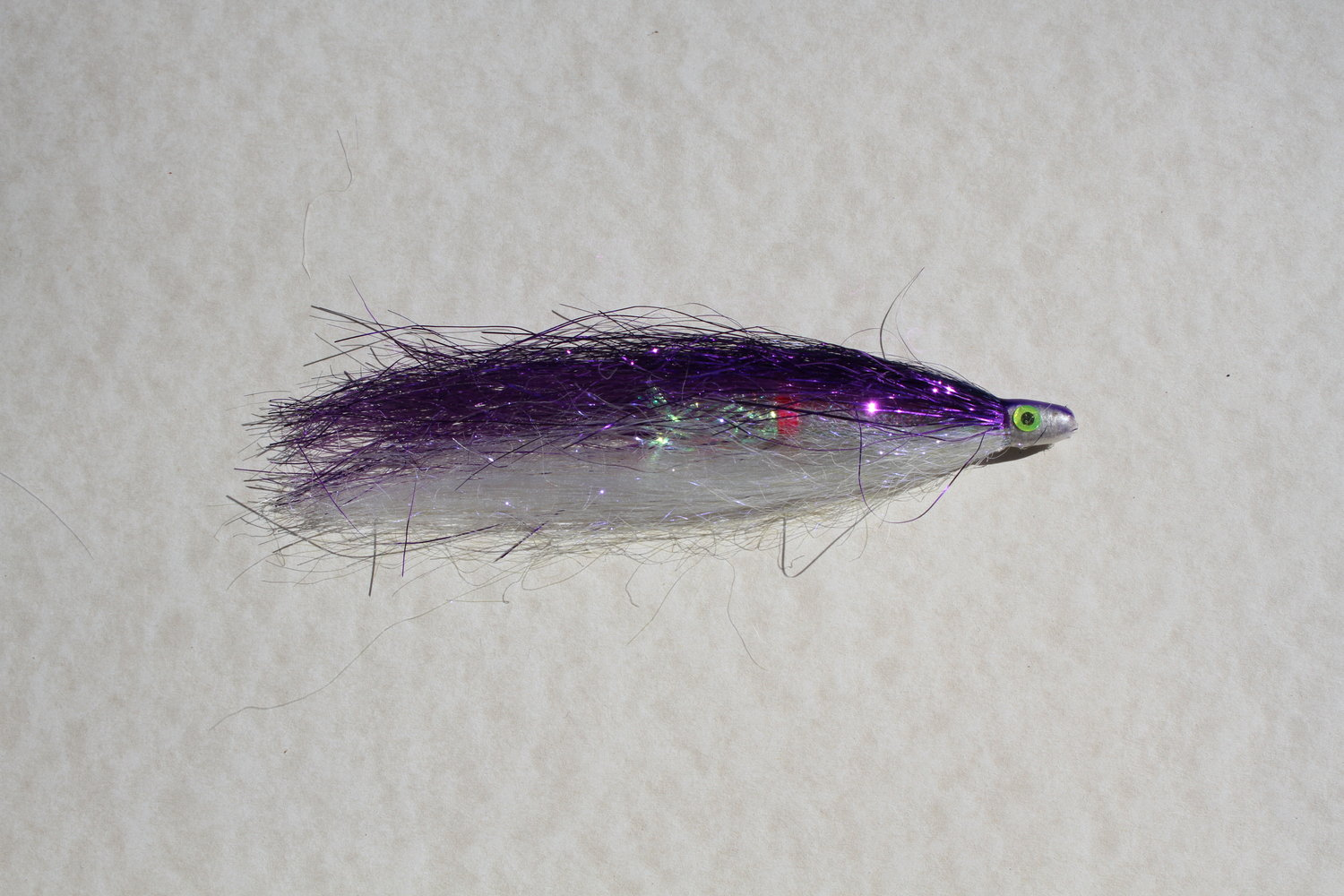 black red and green 3 x aluminium tube fly for salmon or sea trout