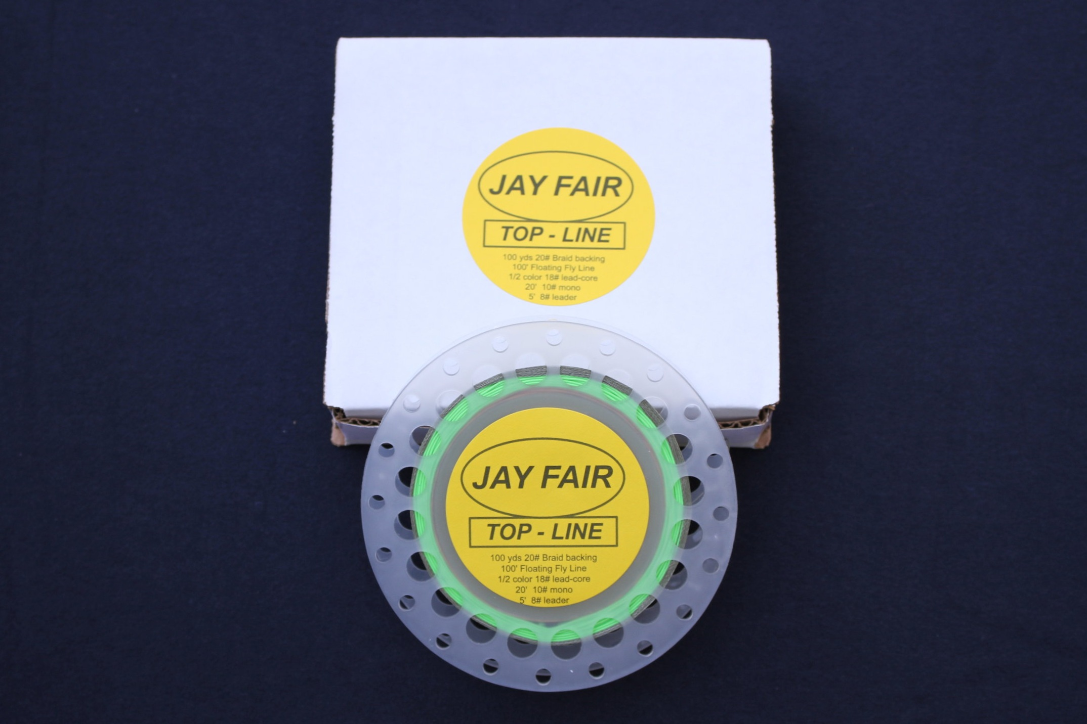 - JAY FAIR TOP-LINE100 yards 20# Braid100 feet .029
