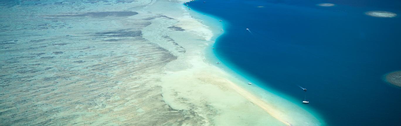 Kaneohe Sandbar aerial : Oahu