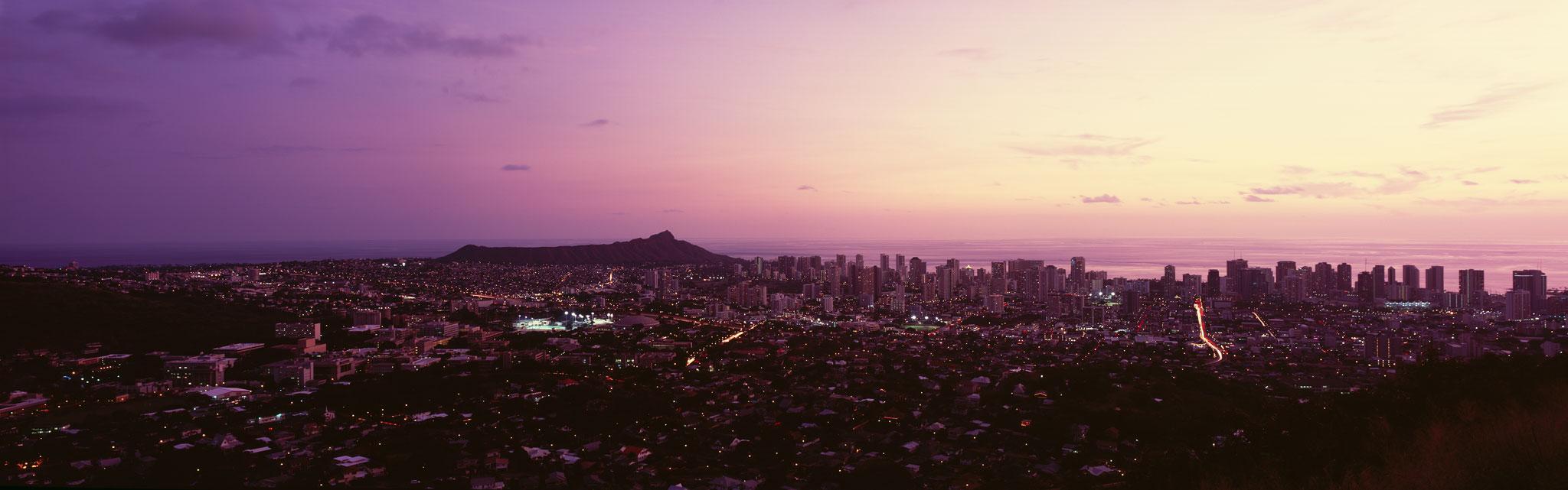 Honolulu from Tantalus : Oahu