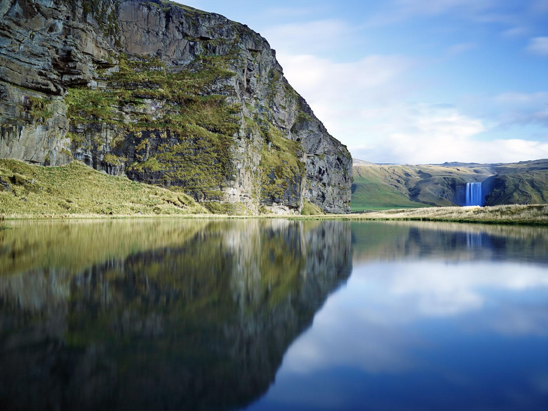 Reflections of Skogafoss : Iceland