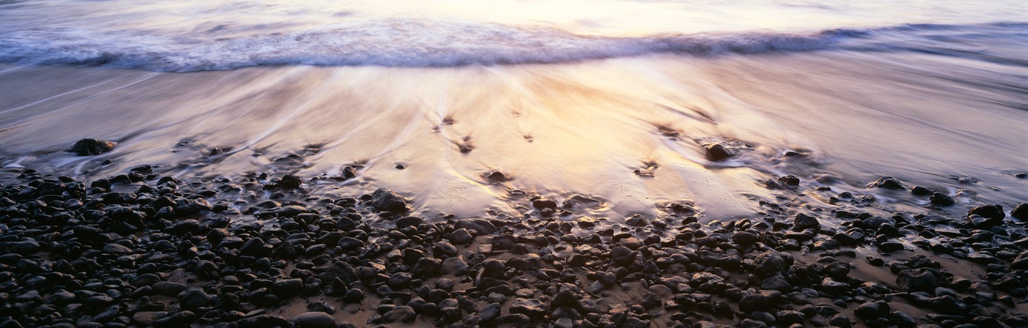 Pebbles on the shore : Maui
