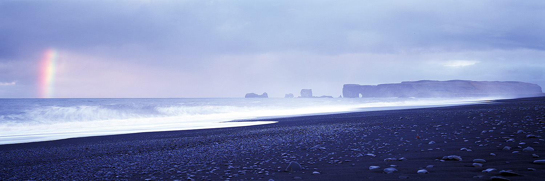 Rainbow at Vik Beach, Iceland 2015