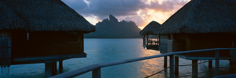 Bora Bora bungalows, French Polynesia 2013