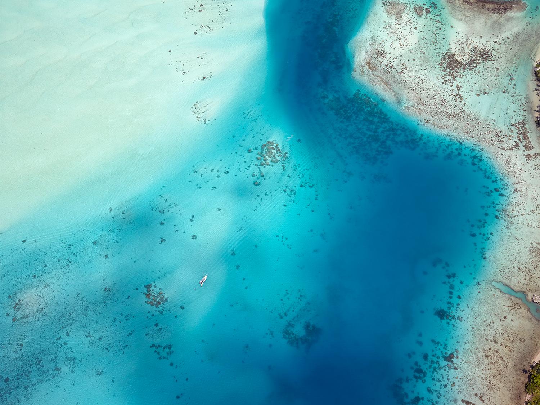 Bora Bora channel, French Polynesia 2014