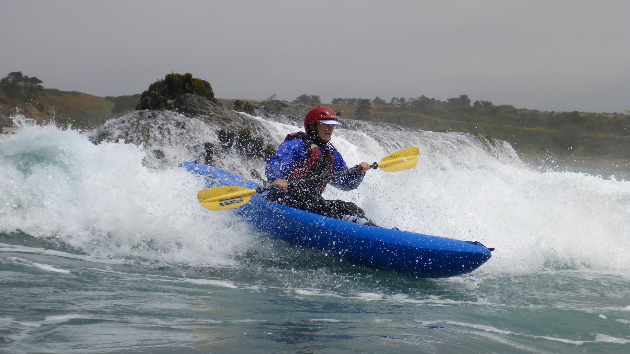 Whitewater of the Sea Kayaking