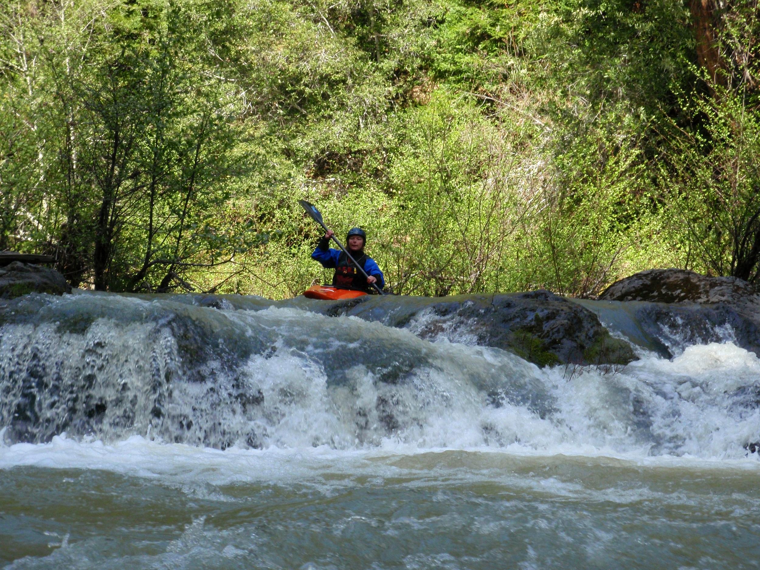 whitewater kayaking on rancheria creek