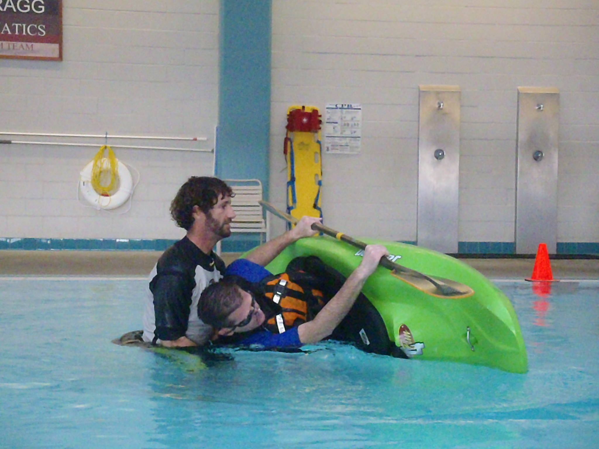 Learning the kayak roll