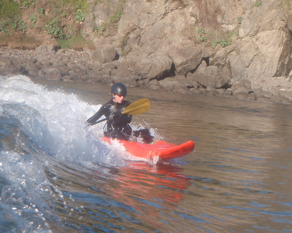 surf kayaking sit on top kayak