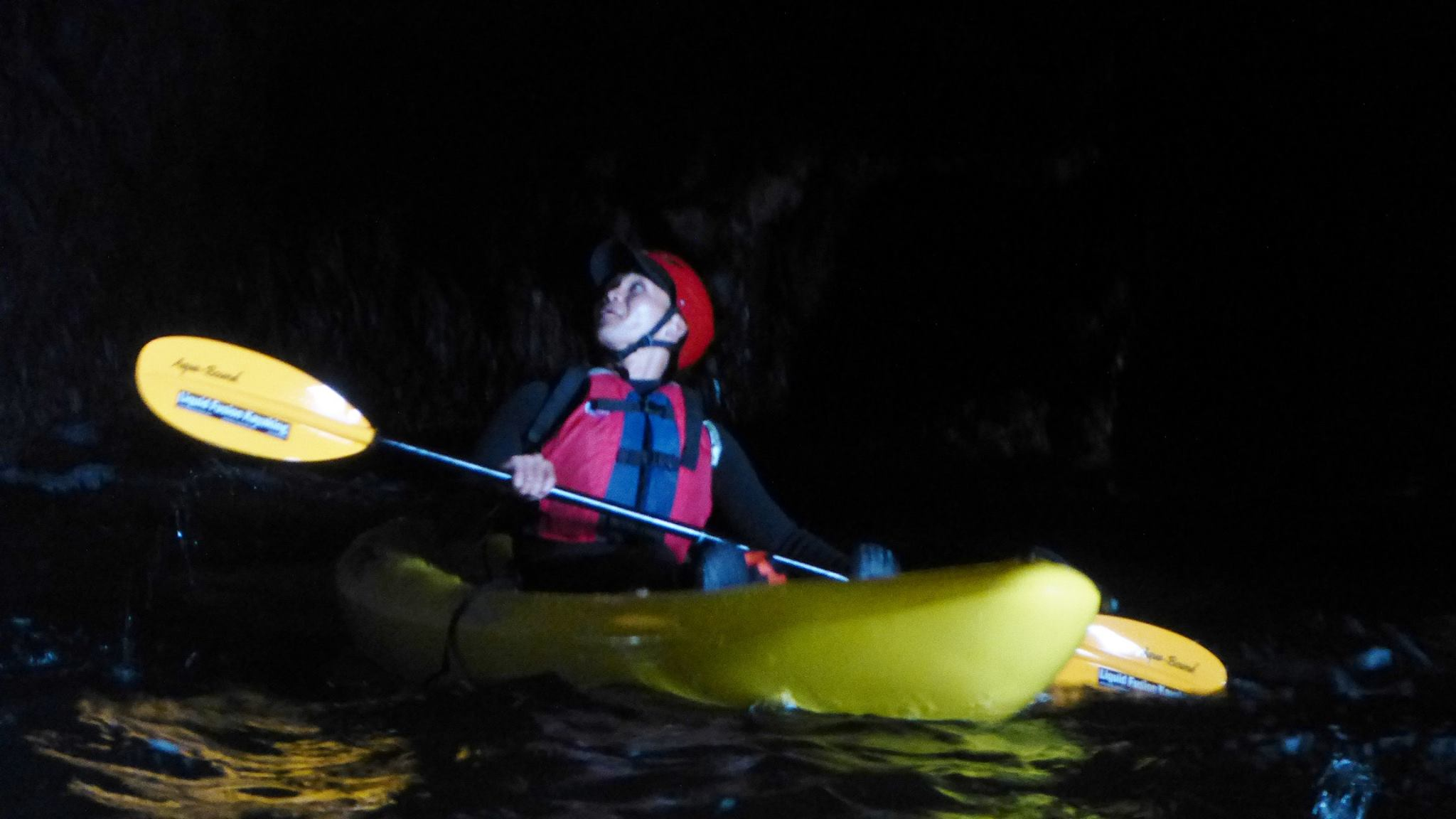 Kayaking into a Sea Cave along the Mendocino Coast