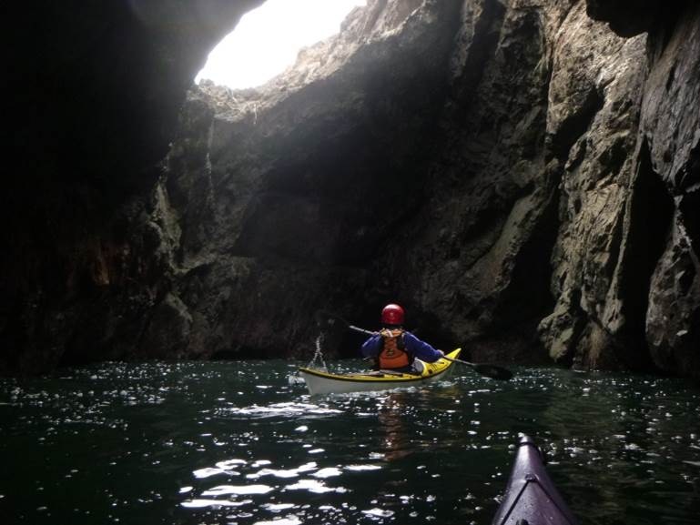 Sea Kayaking into Mendocino's Sea Caves