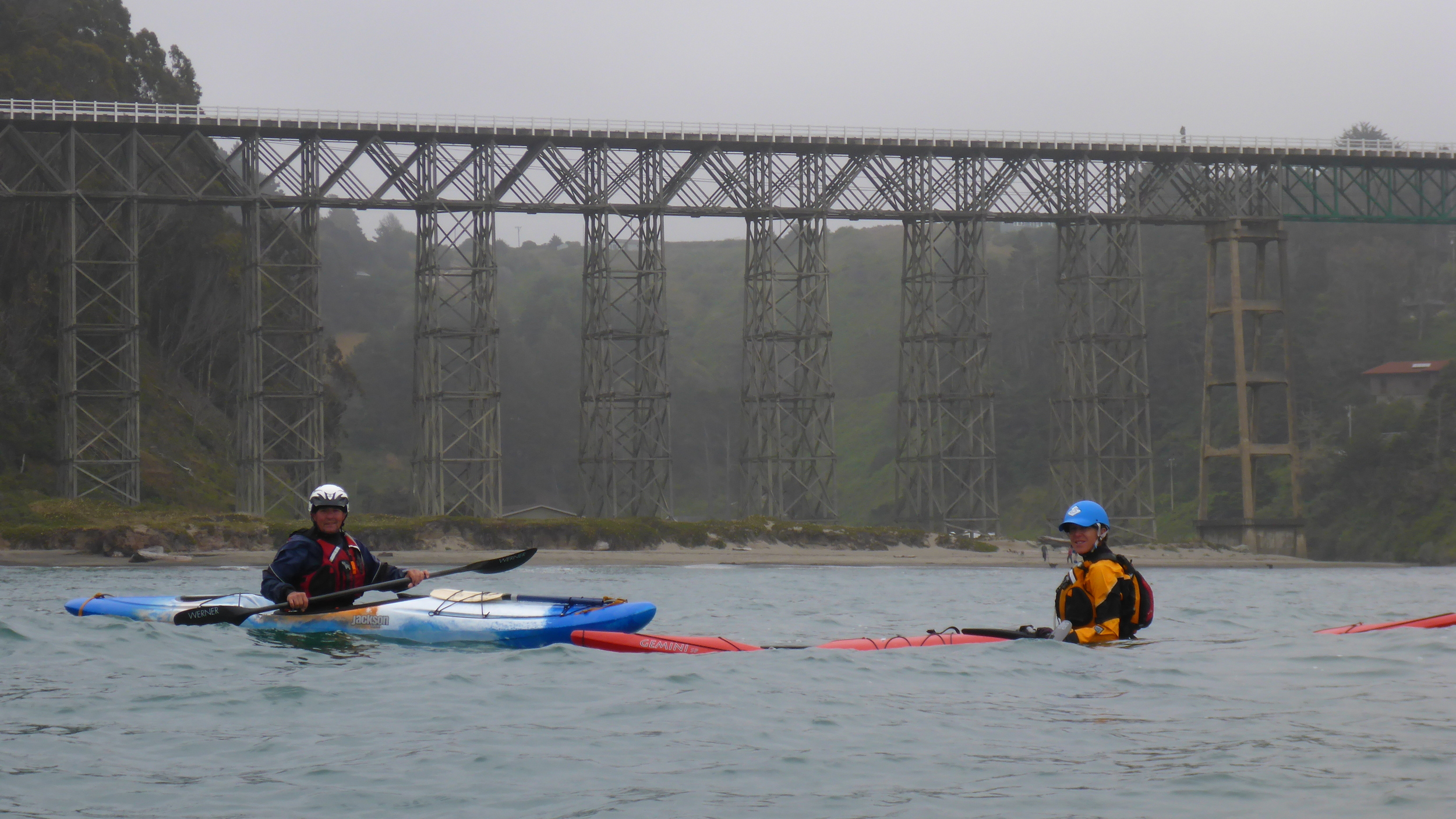 Sea kayak classes and tours in the Albion area of the Mendocino Coast