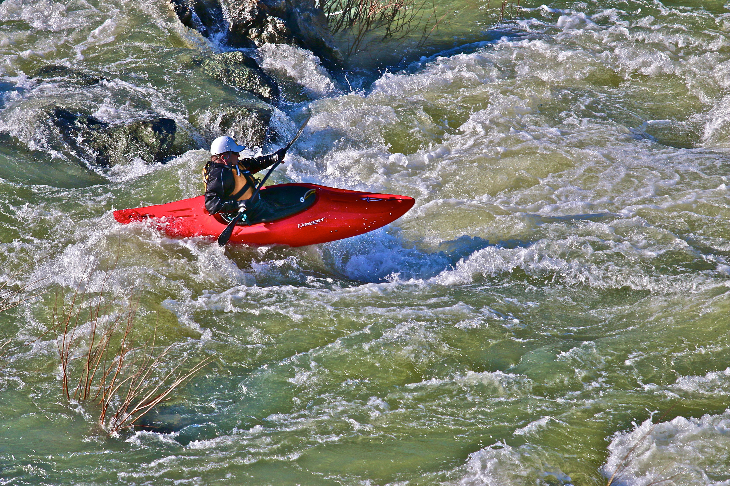 Whitewater river kayaking on Mendocino's Eel River