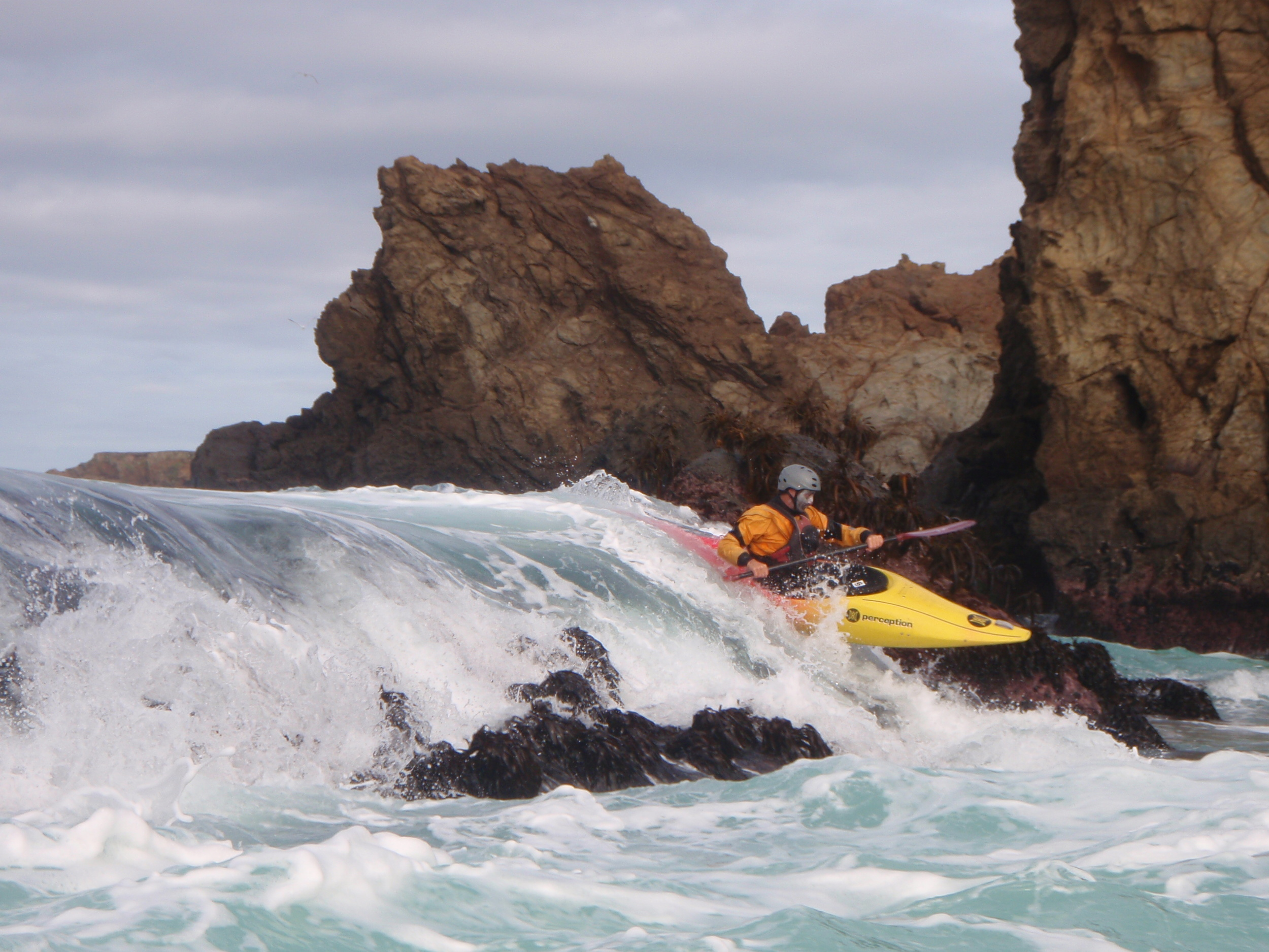Whitewater ocean kayaking on the Mendocino Coast - aka rock gardening
