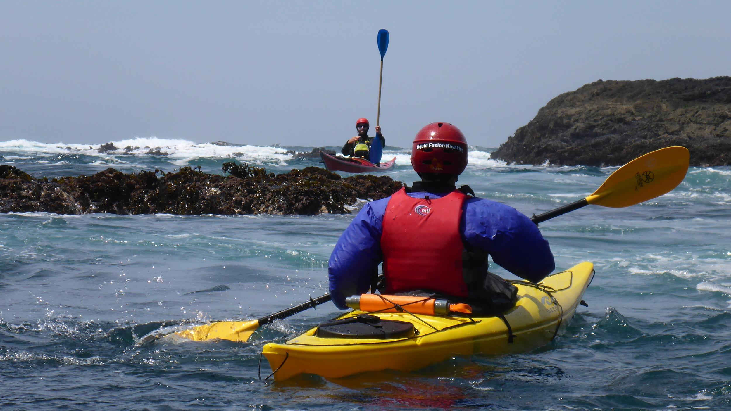 sea kayak rock garden