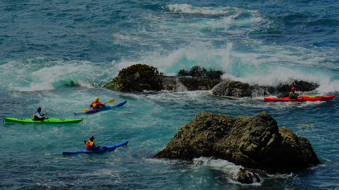 Sea Kayaking into Glass Beach