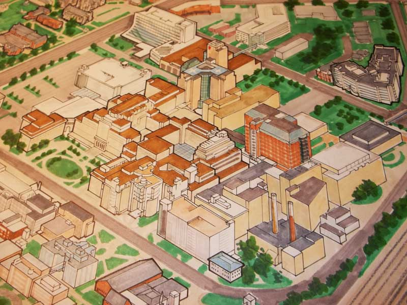 case western reserve university campus map Architectural Renderings Maps Ralph Bacon Illustration And Design case western reserve university campus map