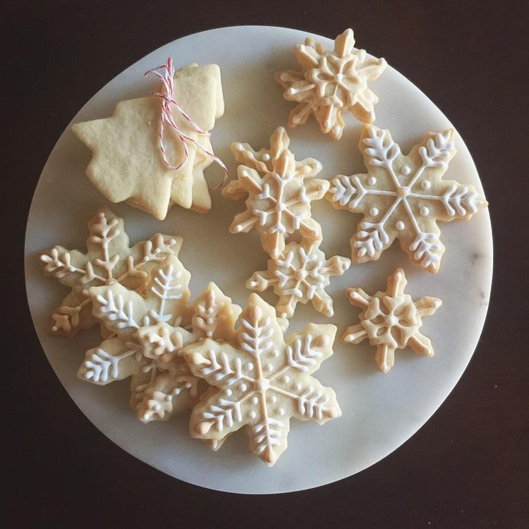snowflake sugar cookies -