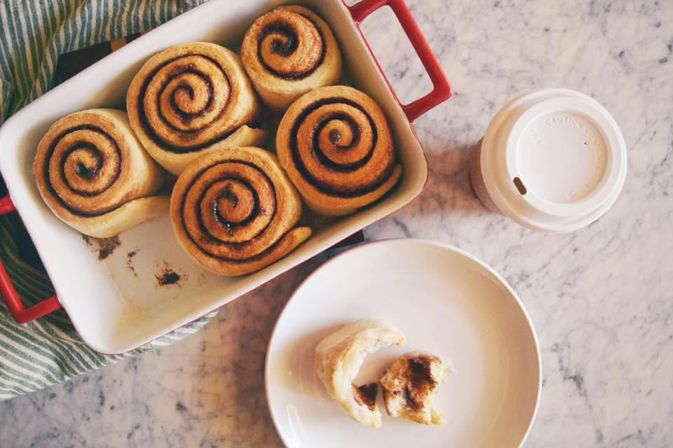 is there anything better than homemade cinnamon rolls? no, there's really not.