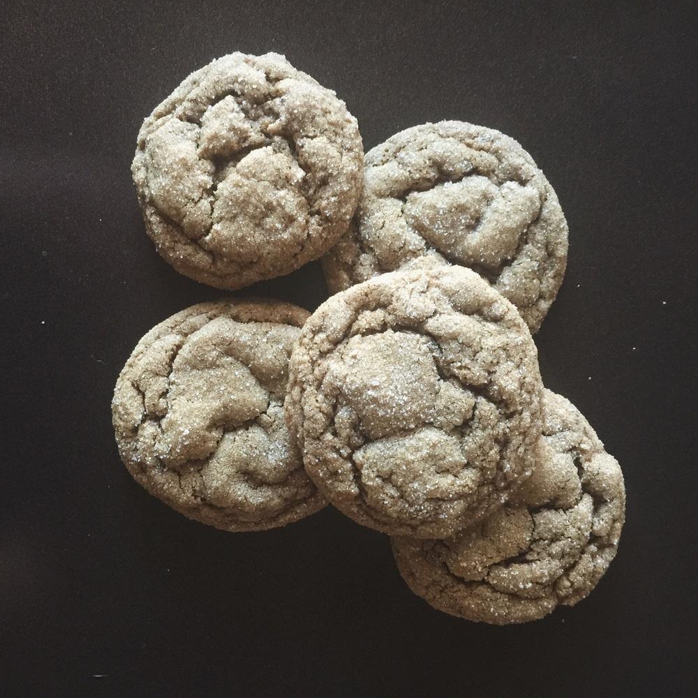pumpkin gingersnap cookies -
