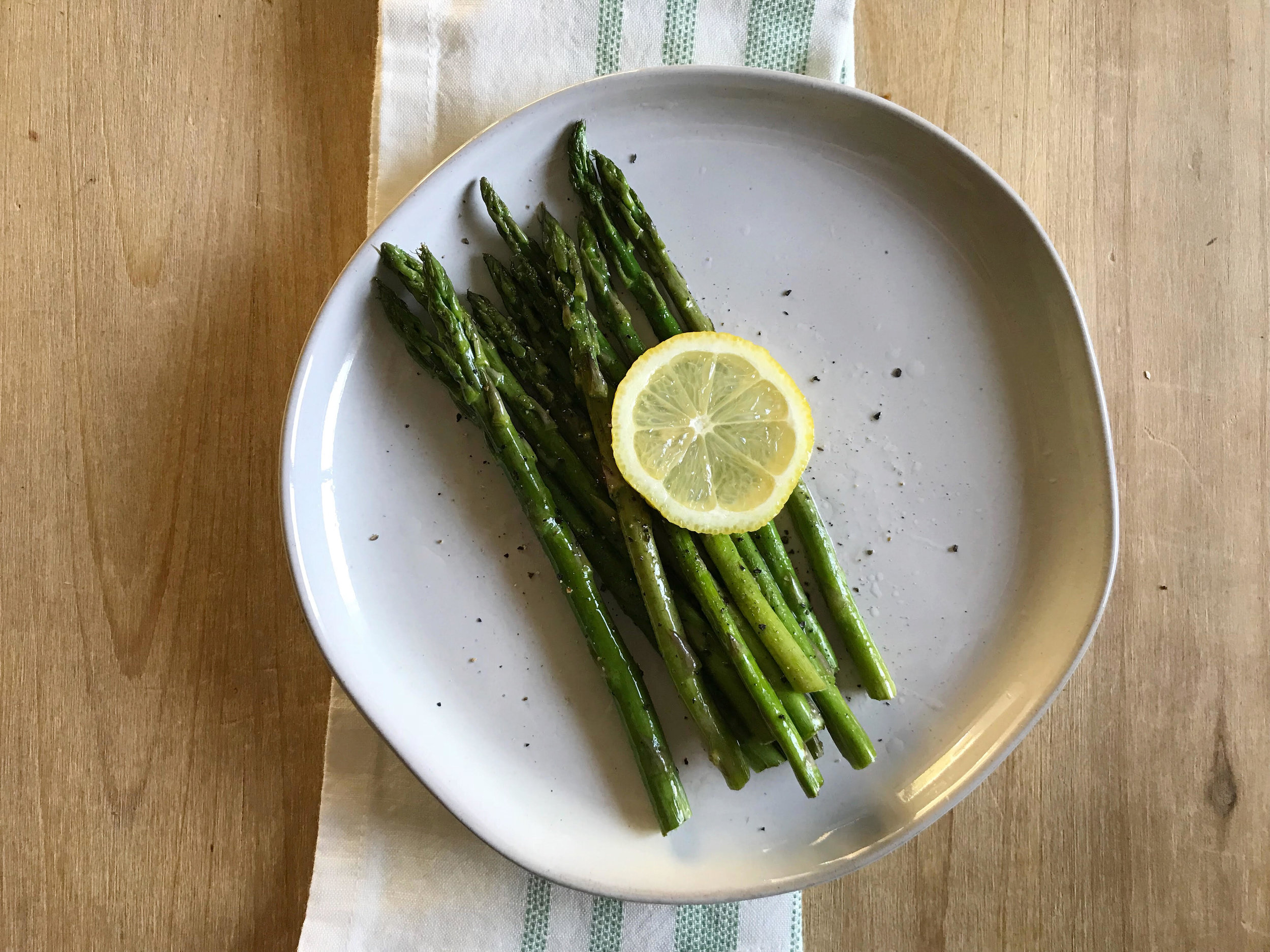 pan-seared asparagus -
