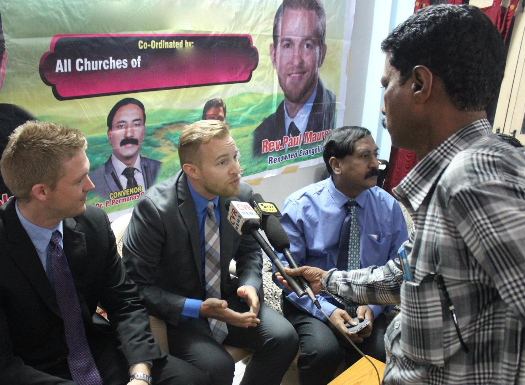 The Lord opened a door to share about the crusadeon secular television