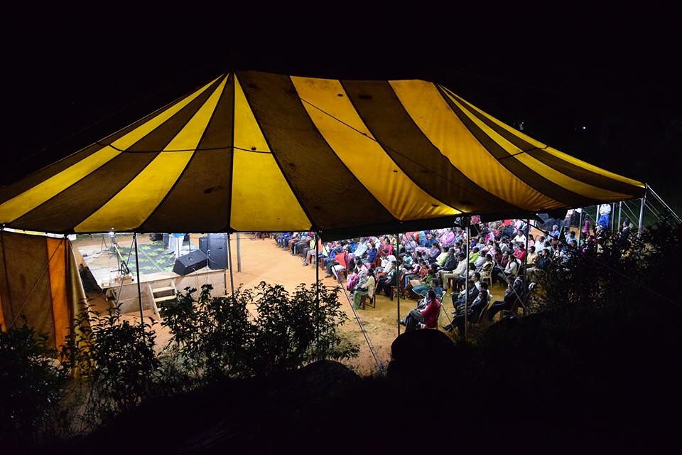 The tent we set up for the crusade