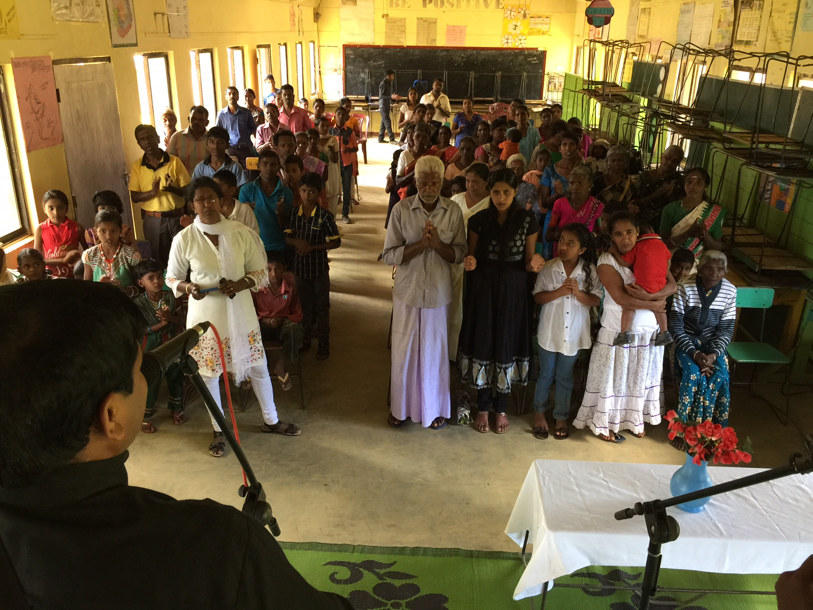 As a result of the crusade this church was planted! This is the very first church in this area.
