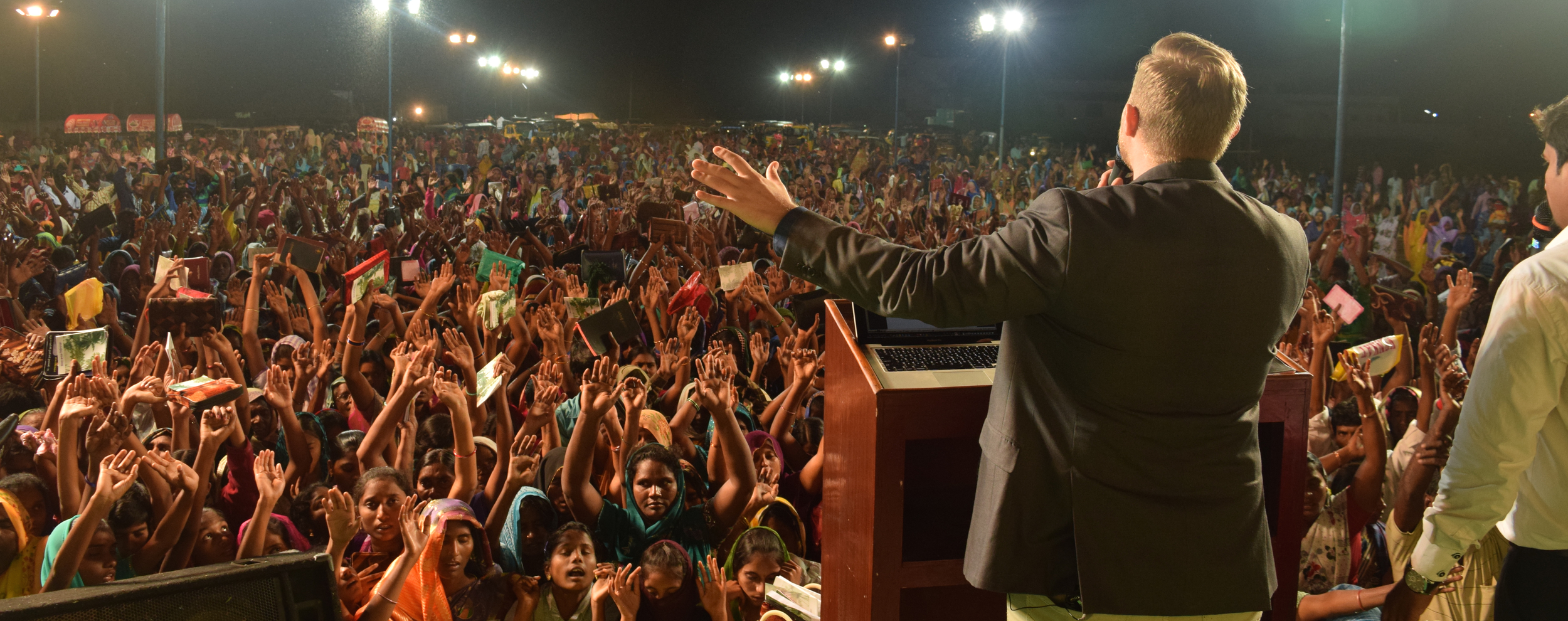 Ministering the last night of the crusade