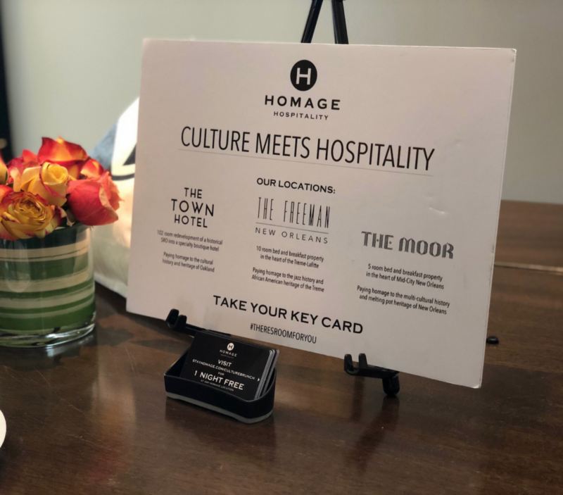 Homage offered #CultureHouse attendees free night stays at one of our properties