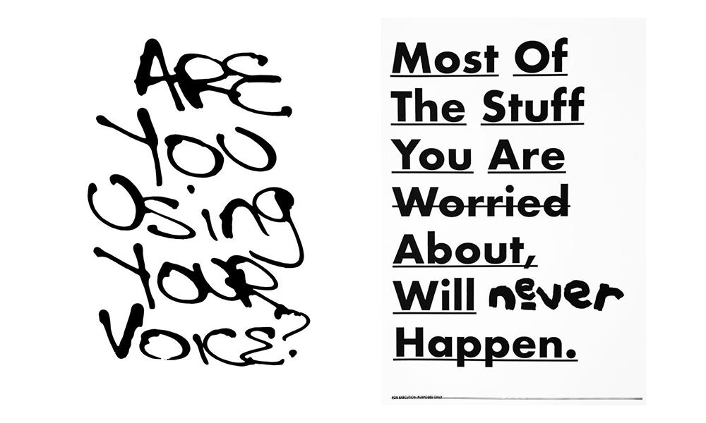 Works by Reggie Black. (R): 'MOST: Affirmation'