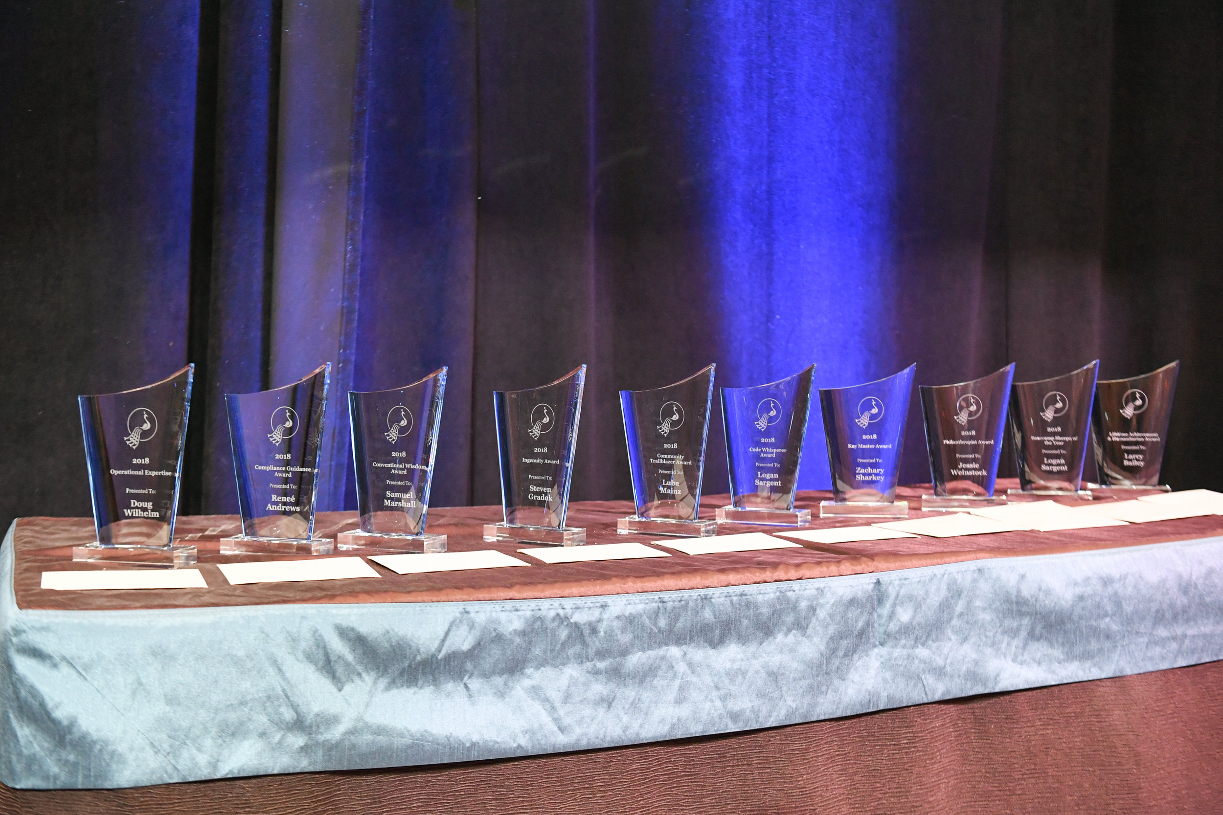 Pictured: Last year's Awards given out at the 2018 EBS held at the Cosmopolitan in Vegas