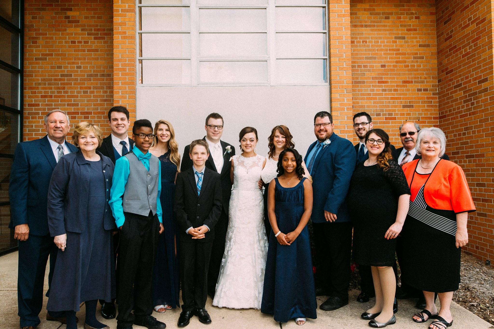 Extended Webb family at Lucas & Samantha's wedding