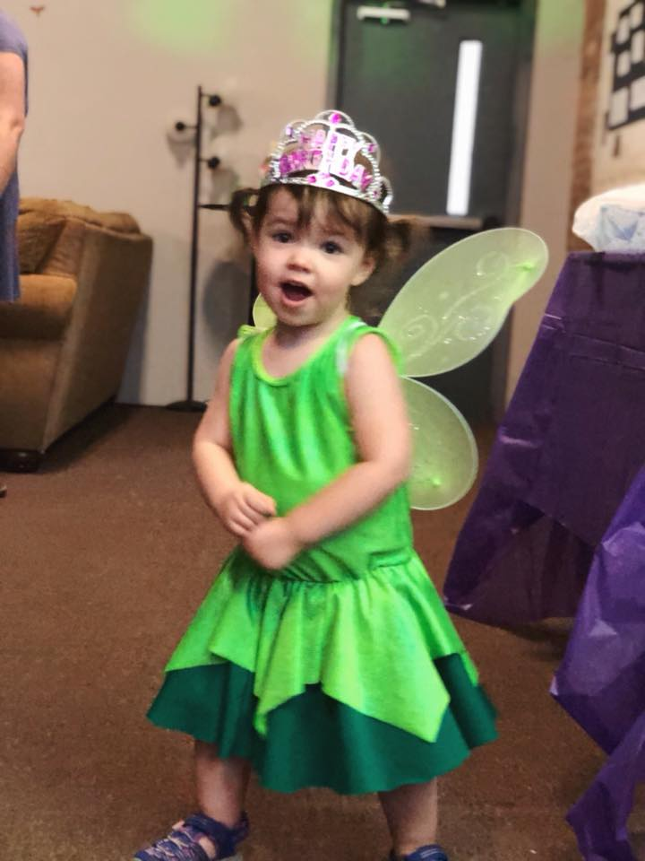 Singing at her 2nd Birthday