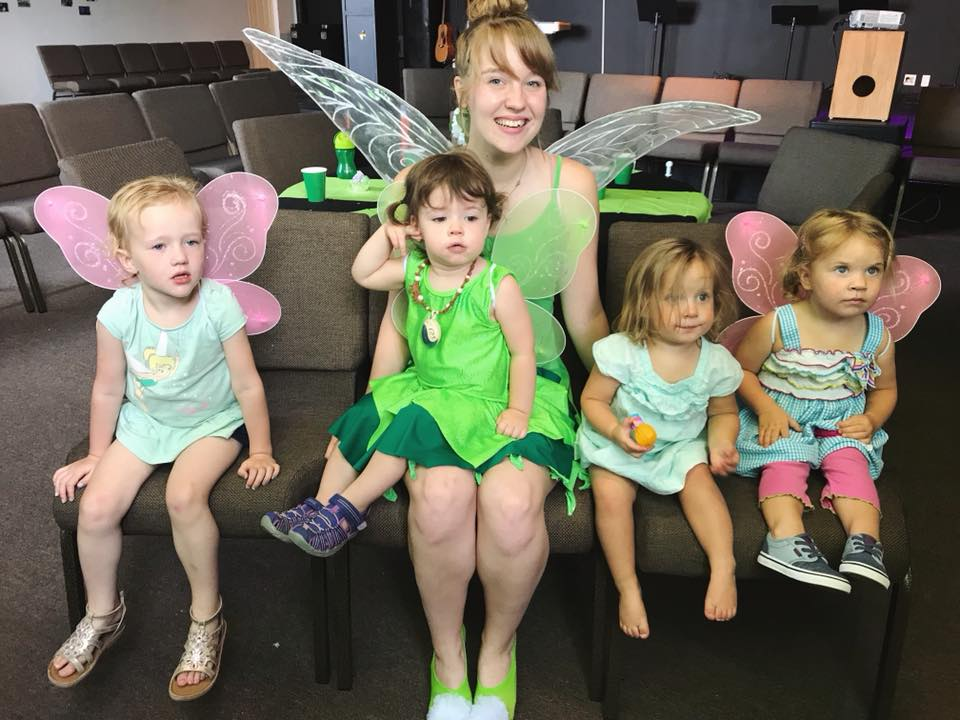 Esther's 2nd Birthday with her friends & Tinkerbell!!