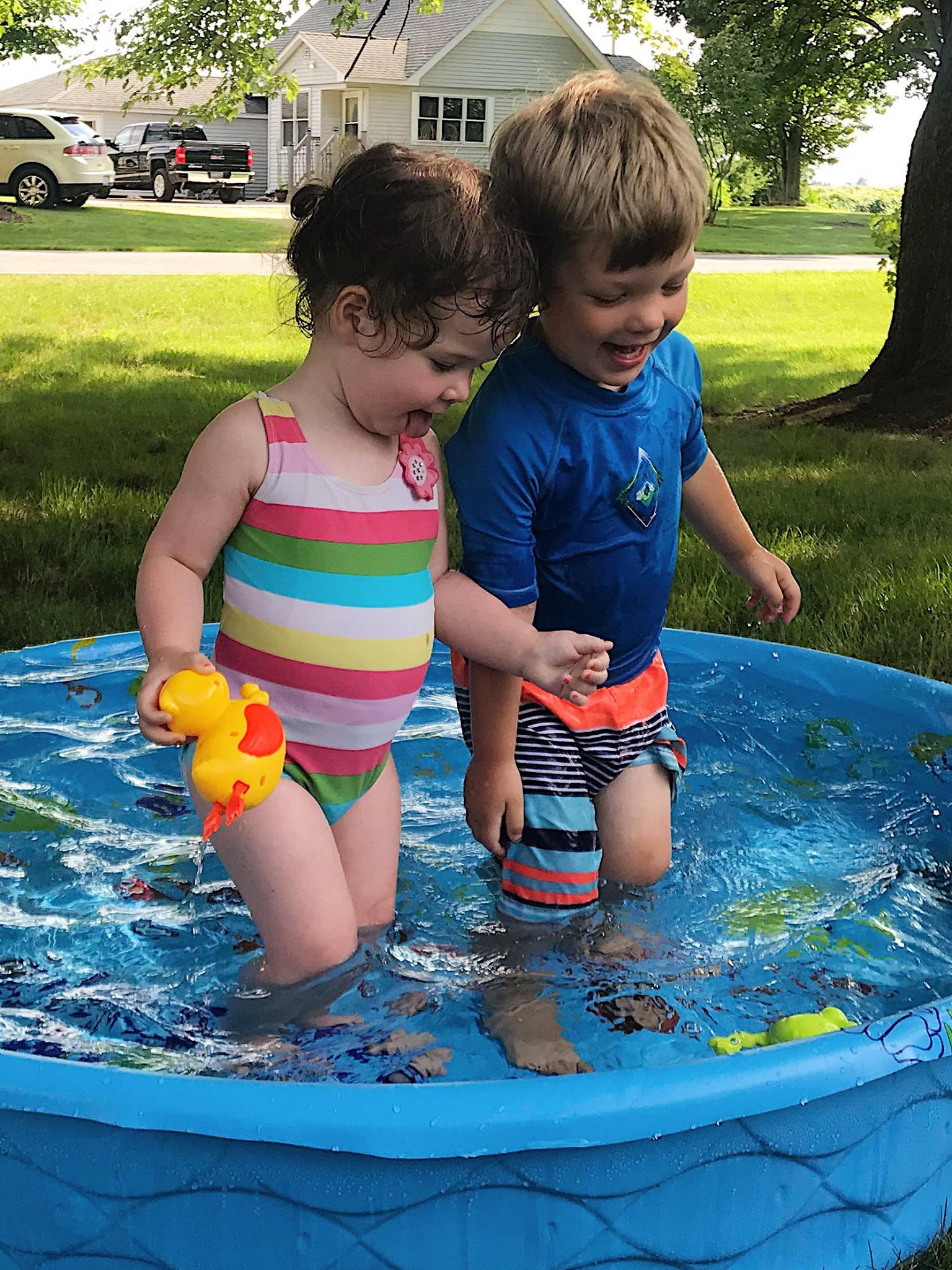 4th of July with her second cousin, Silas